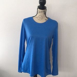 Women's L Powder Blue Nike Dri-Fit Long Sleeve Top